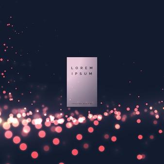 Lumières de bokeh moderne vector background