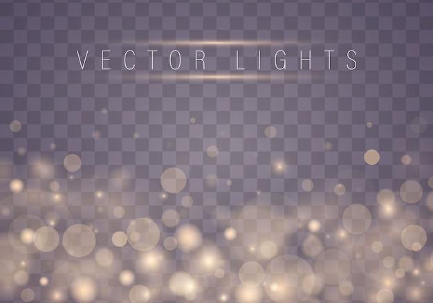 Lumières de bokeh rougeoyantes abstraites. concept de noël.