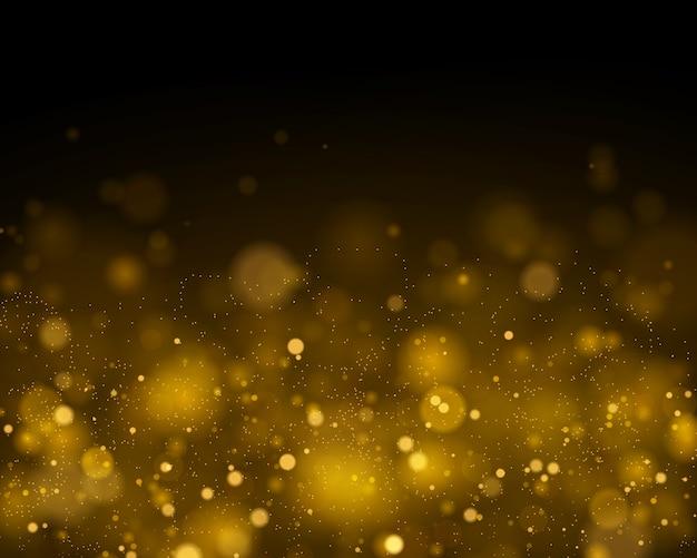 Lumières de bokeh rougeoyantes abstraites. effet de lumières bokeh isolé sur fond transparent noir. fond lumineux pourpre et doré festif.
