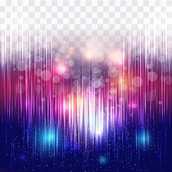 Lumières colorées abstraites avec fond transparent
