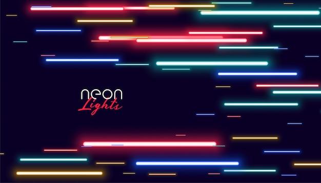 Lumières colorées de vitesse de néon