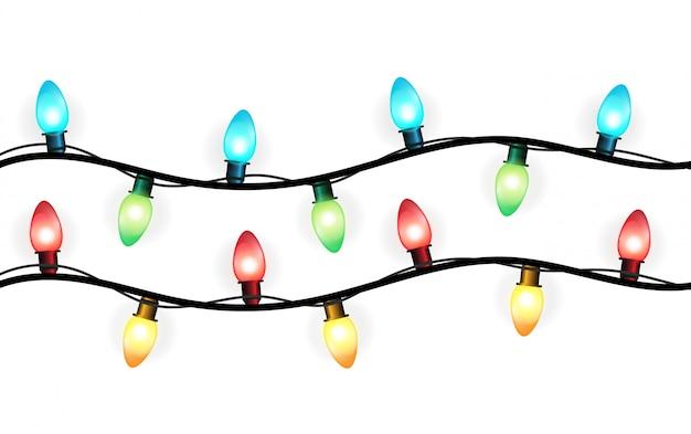 Lumières décoratives de noël. avec un bel éclat