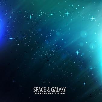 Lumières de l'espace avec étoiles