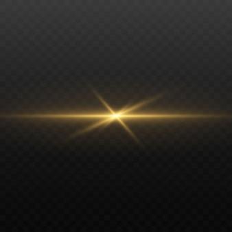 Lumières et étincelles. lumières dorées abstraites isolées sur un transparent