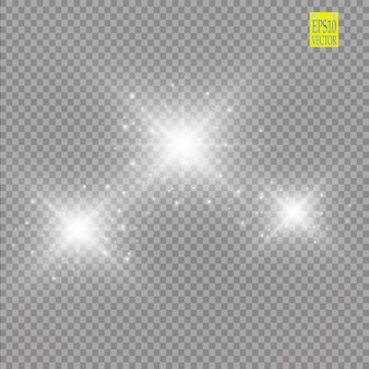 Lumières sur fond transparent