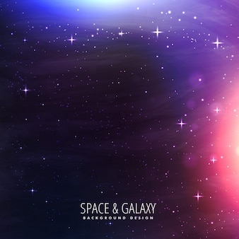 Lumières galaxie fond