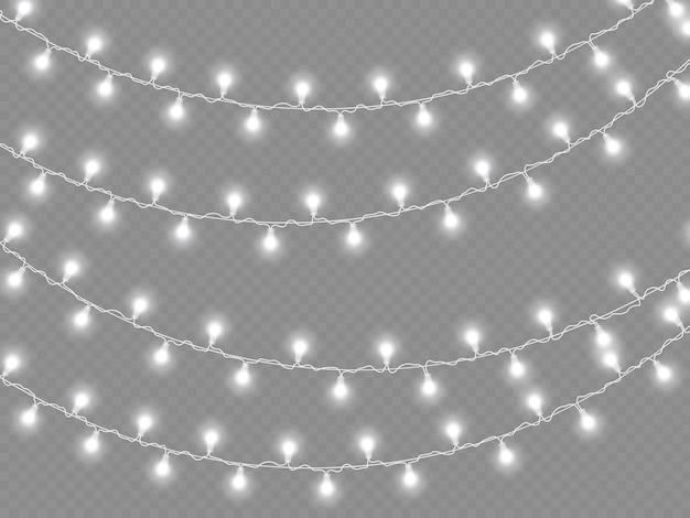Lumières incandescentes, ampoules à guirlande. décorations de guirlande.