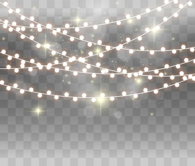 Lumières incandescentes pour la conception. guirlandes, légères.