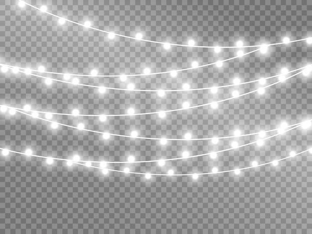 Lumières isolées sur fond transparent. illustration