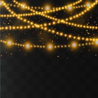 Lumières de noël. décorations de guirlandes. lampe néon à led.