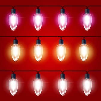 Lumières de noël - guirlande lumineuse festive avec ampoules