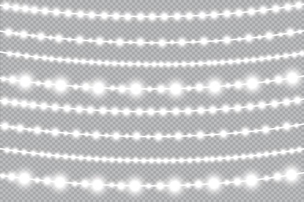 Lumières de noël, guirlande lumineuse. lampe néon à led.