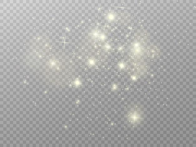 Lumières de noël isolées sur fond transparent. illustration vectorielle