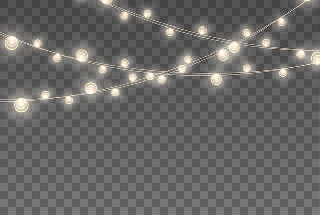 Lumières de noël isolées
