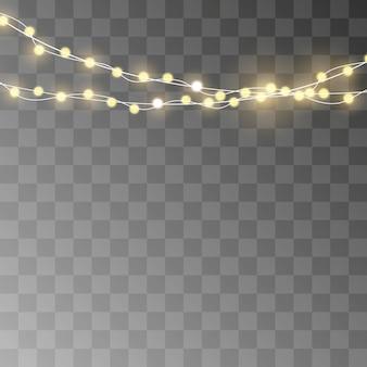Lumières de noël isolés des éléments de conception réaliste.