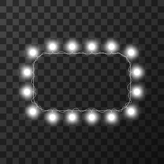 Lumières de noël isolés sur fond transparent,