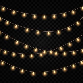 Lumières de noël jaunes