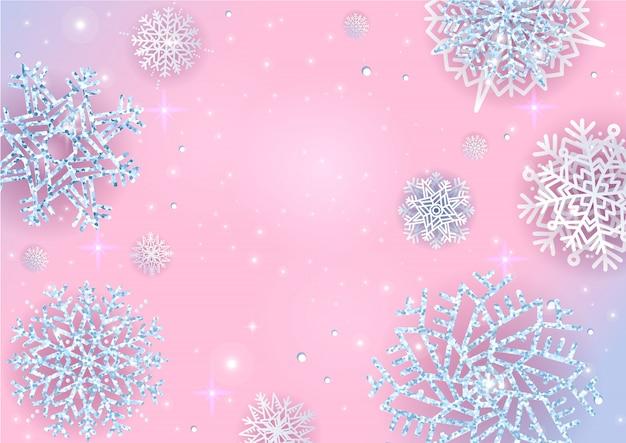 Lumières de noël vacances nouvel an abstrait fond de paillettes