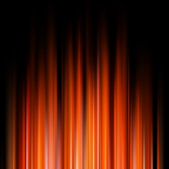 Lumières orange abstraites sur fond sombre.