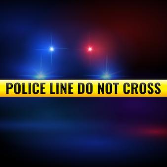 Lumières de police et bande