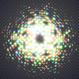 Lumières de poussière magiques incandescentes. illustration isolée sur fond. concept graphique pour votre conception