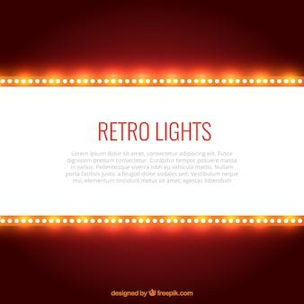 Lumières rétro fond