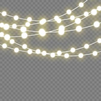 Lumières rougeoyantes de noël pour les vacances. lampe néon à led.