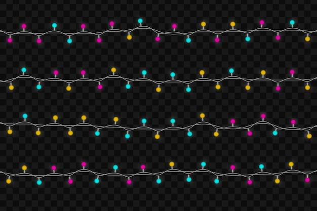 Lumières rougeoyantes de noël.