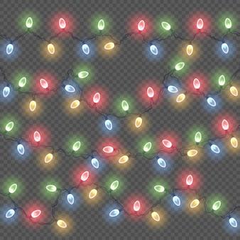 Lumières rougeoyantes pour les cartes de noël