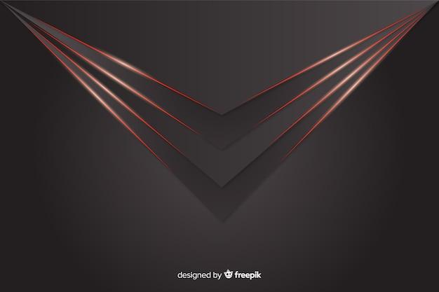 Lumières rouges géométriques sur fond gris