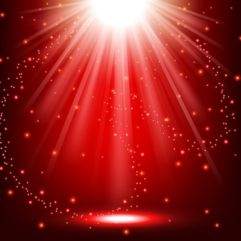 Lumières rouges qui brille