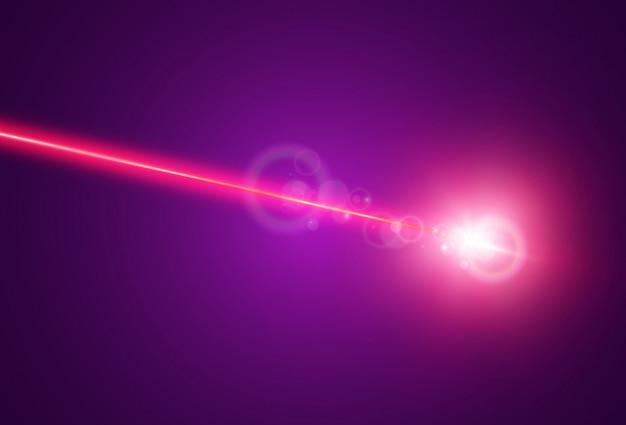 Lumineux beaux faisceaux laser sur fond transparent. laser scanner.