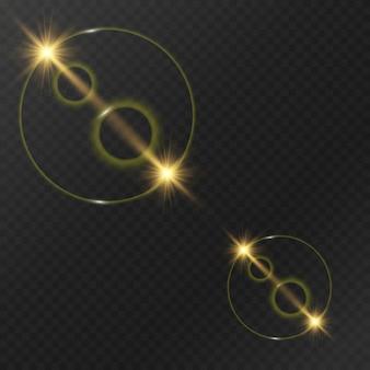 Lumineux, belles lumières, éléments de conception. lumières incandescentes