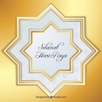 Lumineux étoiles d'or de fond pour eid al-adha