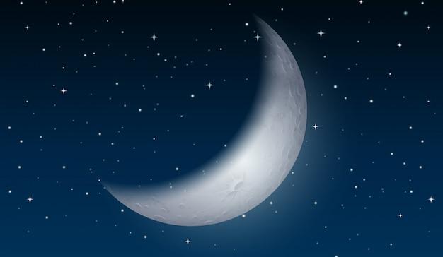Une lune sur le ciel