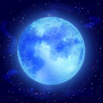 Lune avec étoiles