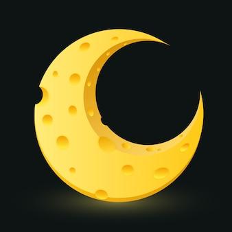 Lune de fromage jaune avec des cratères.