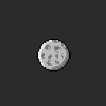 Une lune ronde avec un style pixel art