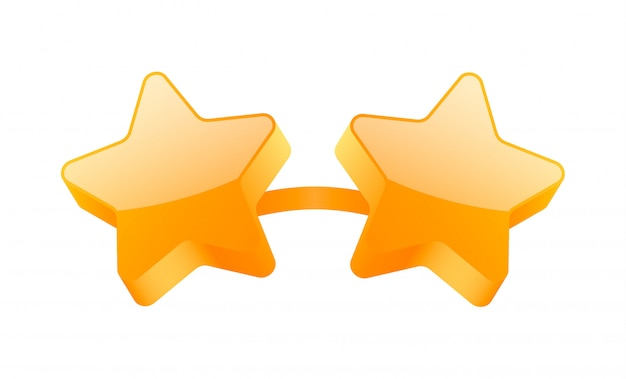 Lunettes 3d étoiles dorées