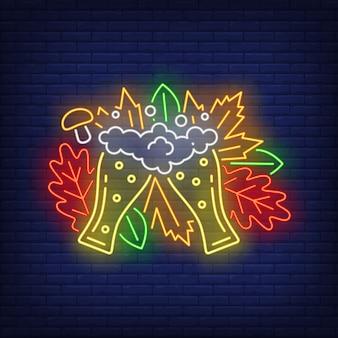 Lunettes pilsner au néon