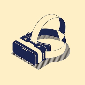 Lunettes de réalité virtuelle.