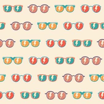 Lunettes de soleil de fond transparente motif avec couleur, modèle de lunettes de soleil vintage