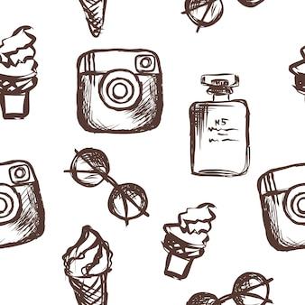 Lunettes de soleil modèle femmes parfum crème glacée icône de médias sociaux