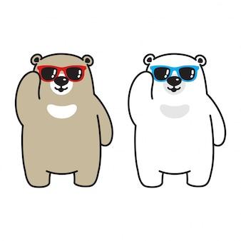 Lunettes de soleil ours polaire