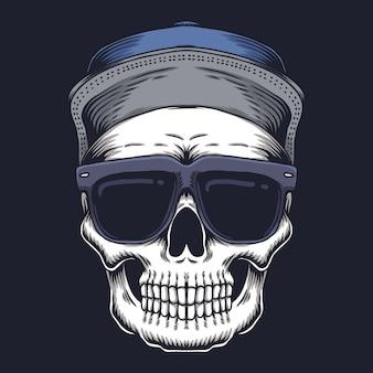 Lunettes de vue tête de mort