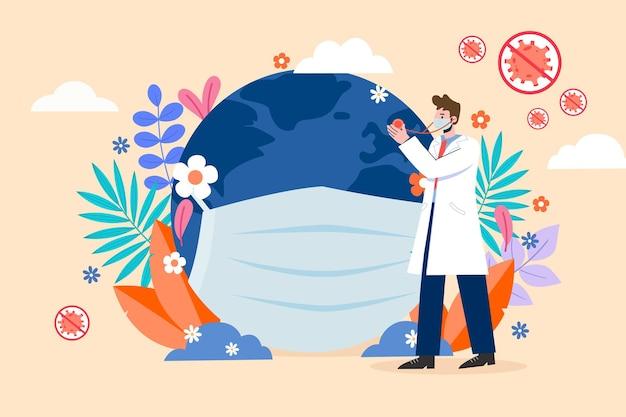 Lutte mondiale contre le nouveau coronavirus