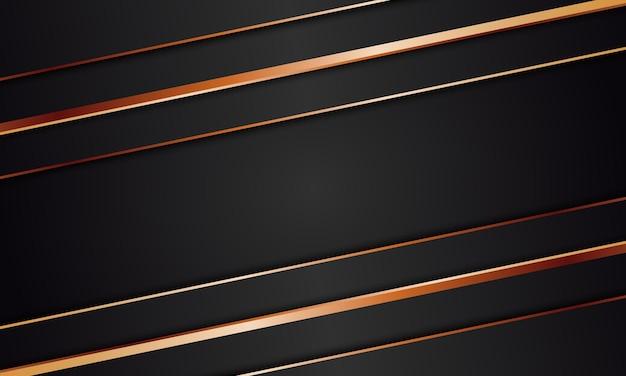 Luxe abstrait avec des rayures noires et fond de texture de lignes dorées. illustration vectorielle.