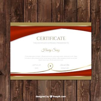 Luxe certificat d'études modèle