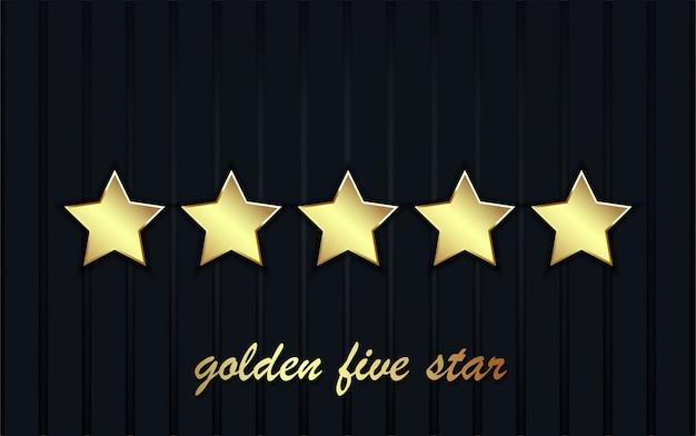 Luxe cinq signes étoiles d'or.