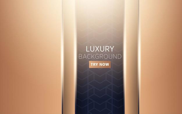 Luxe haut de gamme moderne abstrait noir et or